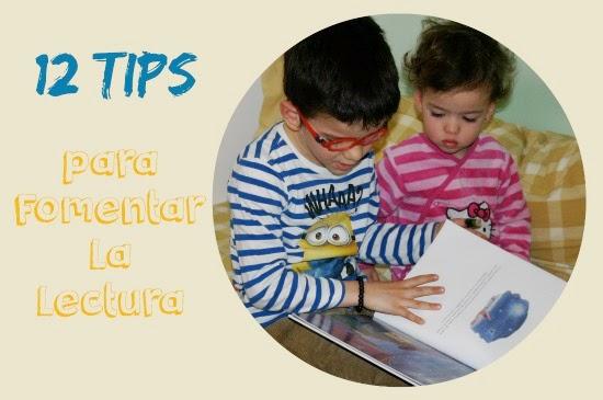 cartel 12 tips o ideas para fomentar la lectura entre los niños