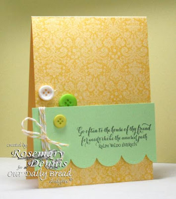 "Our Daily Bread designs  ""Brocade Background"",  ""Quote Collection 2"",  Designer Rosemary Dennis"
