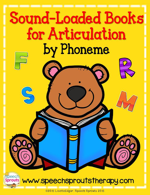 Awesome FREE list of Sound-loaded story books for articulation sorted by phoneme from Speech Sprouts