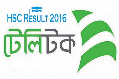 HSC result 2016 on Teletalk