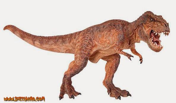 Brown Papo Running Tyrannosaurus rex