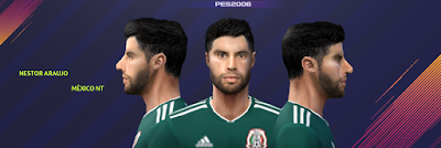 PES 6 Faces Néstor Araujo by Gabo CR Facemaker