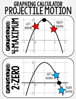Fun with Quadratics | Projectile Motion graphing calculator anchor chart