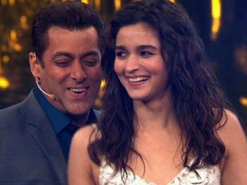 Salman Khan's picture with a baby Alia Bhatt can be trending after Sanjay Leela Bhansali announces a film starring the duo