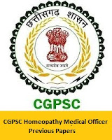 CGPSC Homeopathy Medical Officer Previous Papers