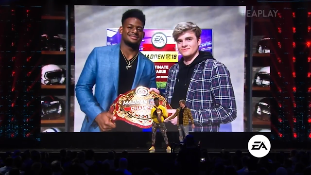 Electronic Arts E3 2018 Madden NFL champion belt Young Kiv nigga stole my belt Pittsburgh Steelers