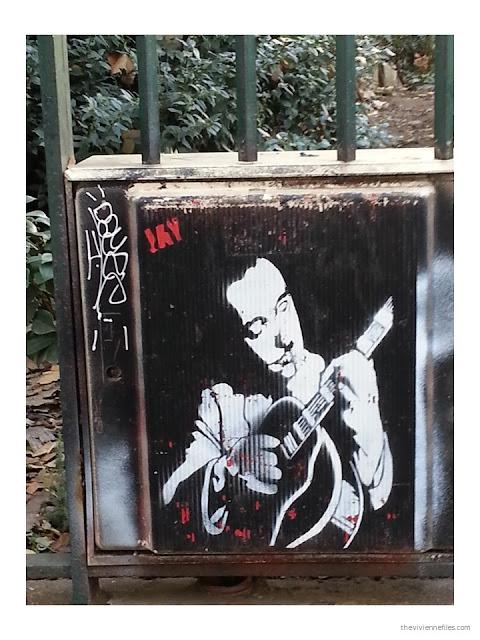 Paris street art Django Reinardt stencil