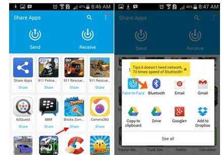 Cara Mengirim Aplikasi Lewat Bluetooth Pada Android Gudang