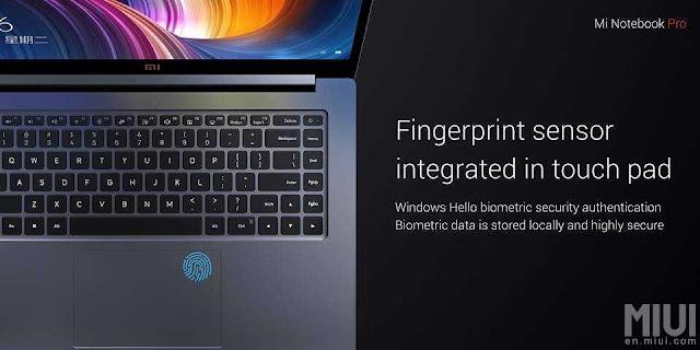Mi Notebook Pro Fingerprint