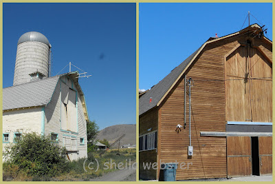 Before and after pictures of the barn at Tranquille on the Lake