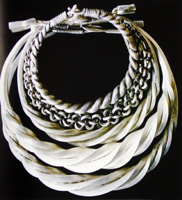 Summer: Silver necklace among Hmong girls
