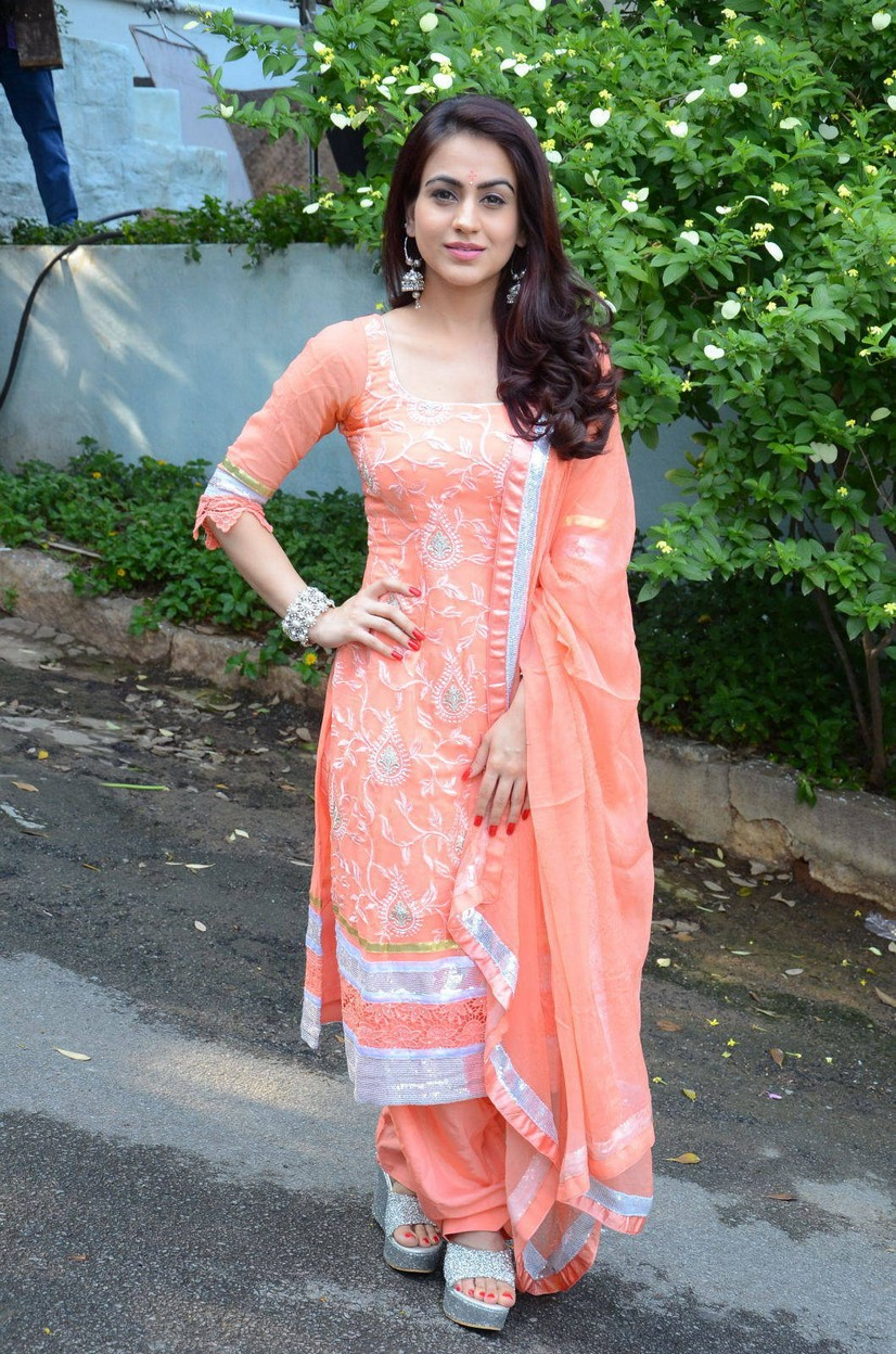 Glamours South Indian Actress Aksha Stills At Movie Launch In Pink Dress