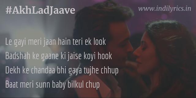 Jo Akh lad jaave | Loveratri | Full Audio Song Lyrics with English Translation and Real Meaning | Jubin Nautiyal, Asees Kaur ft. Badshah