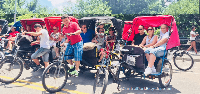 Central Park Pedicab Tours at Work