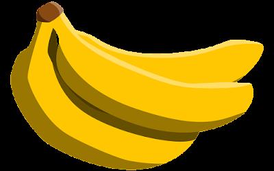 gambar clipart ilustrasi buah pisang