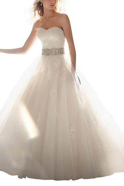 Ivory organza Wedding dress
