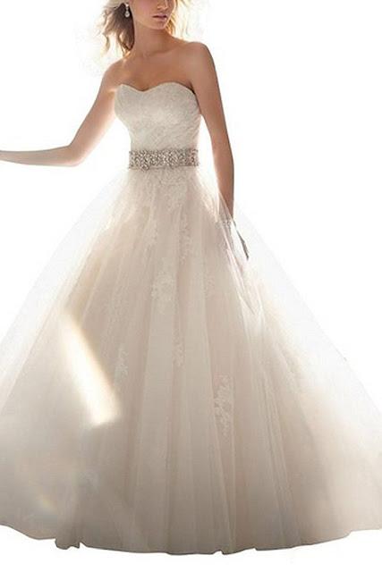 Ivory organza Wedding dress