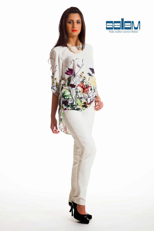 6d20fecfb4 Calça resinada + Blusa viscose floral - Loja Salem - O melhor da ...