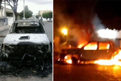 Ituaçu: Hilux envolvida em suposta atentado a médico é incendiada na frente da delegacia