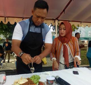 Acara CFD Peringati Hari Kartini, Danrem Ikut Lomba Memasak Bersama Istri