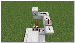Minecraft 高速トロッコ輸送 アイテム荷降ろし駅 作り方⑨