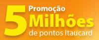 Cadastrar Promoção itaucard 2016 Cinco Milhões de Pontos