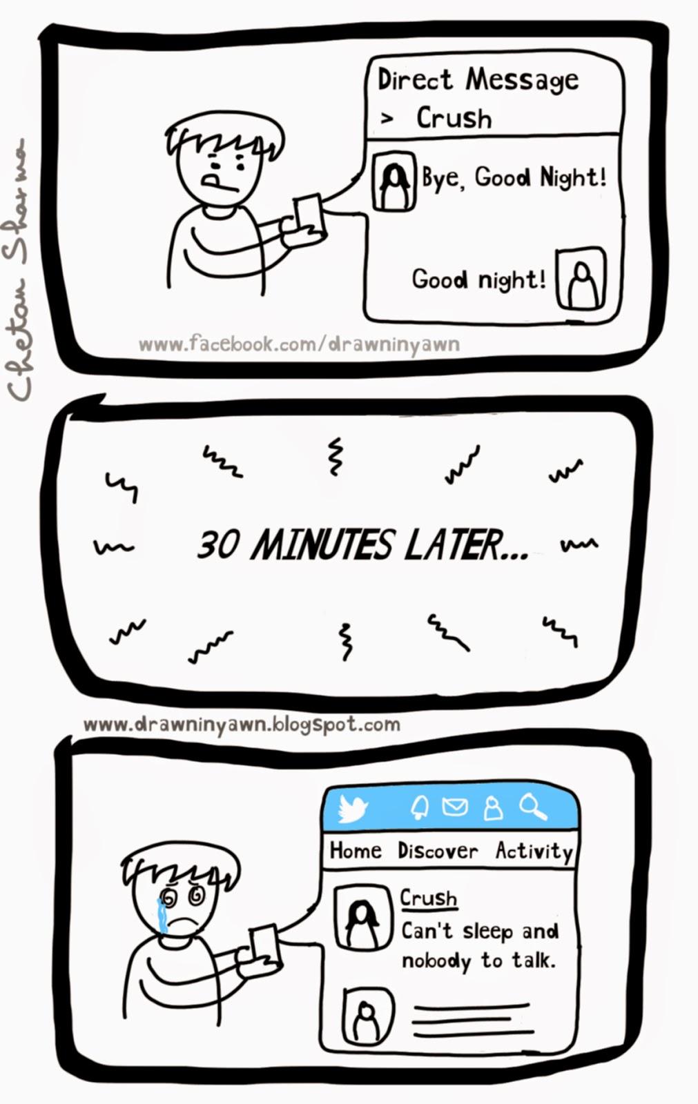 Drawn In Yawn: Twitter Crush