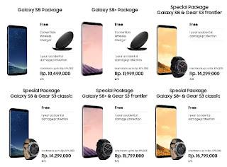 Pre-Order Samsung Galaxy S8 dan S8+ Cashback Rp 875 ribu dan Bonus Wireless Charger