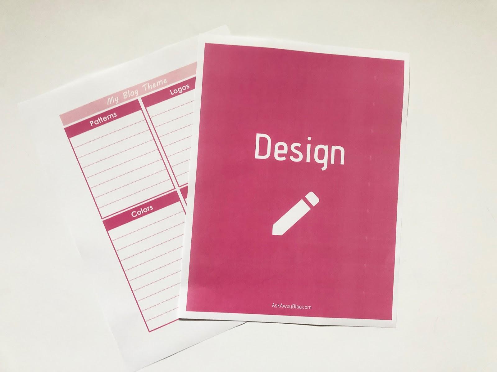 Ask Away Blog Free Printable Blogging Binder