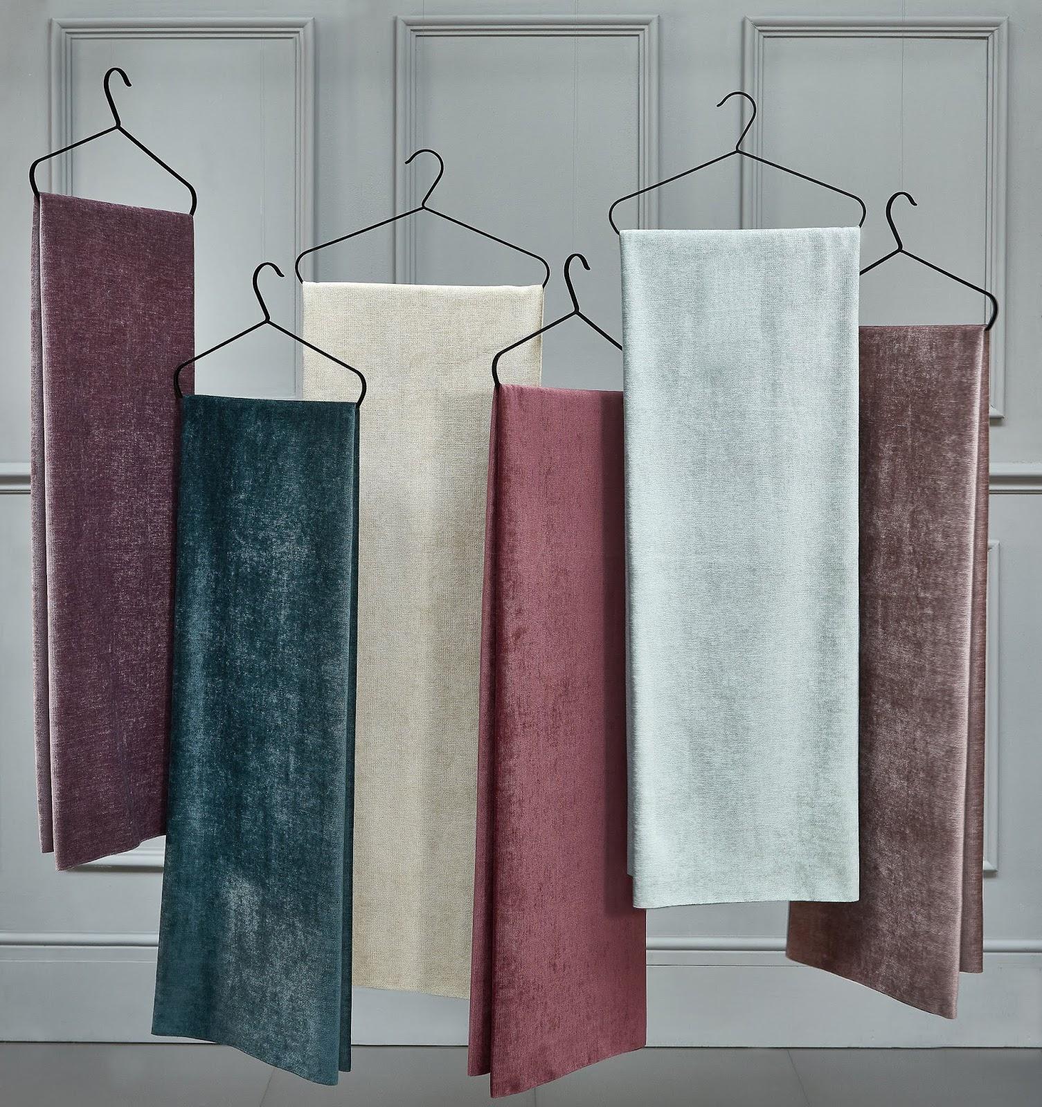 Fryetts Kensington Luxury Plain Chenille Designer Curtain Upholstery Fabric