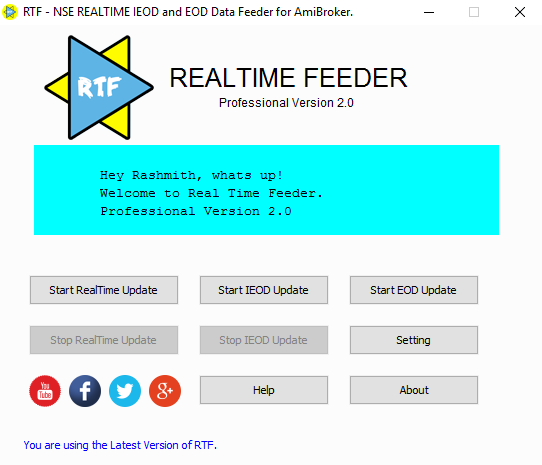 Real Time IEOD EOD Data Feeder for Amibroker - Trader Mate