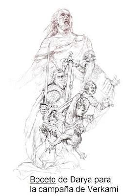 Boceto de Delbaeth Rising