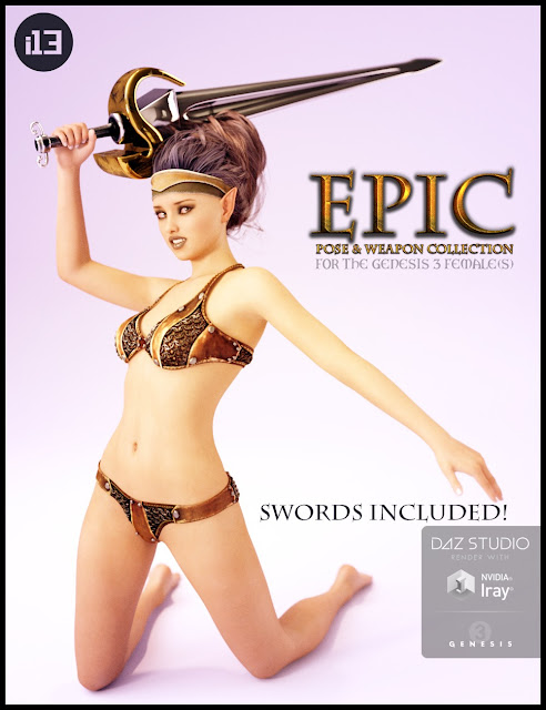 i13 Epic Pose Collection with Swords