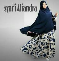Syar'i Aliandra gratis bergo  Rp.120rb matt jersey super printing + syar'i LD 100 PJ 140
