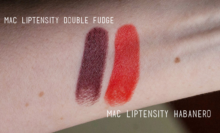 Beauty: MAC Liptensity Double Fudge and Habanero review
