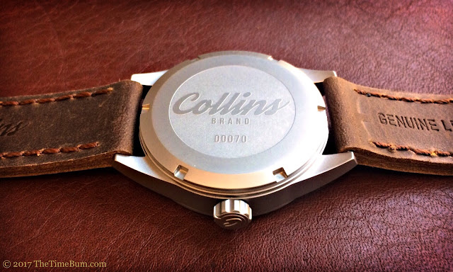 Collins Watch The Bronson silver bead blasted case back