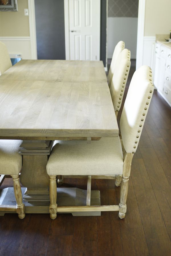The aldridge dining table is about HALF the price of the comparable Restoration Hardware version. This blogger gives a full review of everything from the quality, finish, comfort and durability.