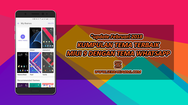 Download Tema keren MIUI 9 Tembus Whatsapp
