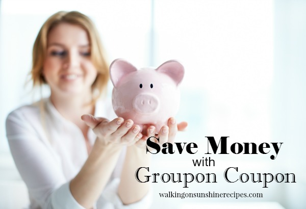 Save money on back-to-school shopping with Groupon Coupons featured on Walking on Sunshine Recipes.