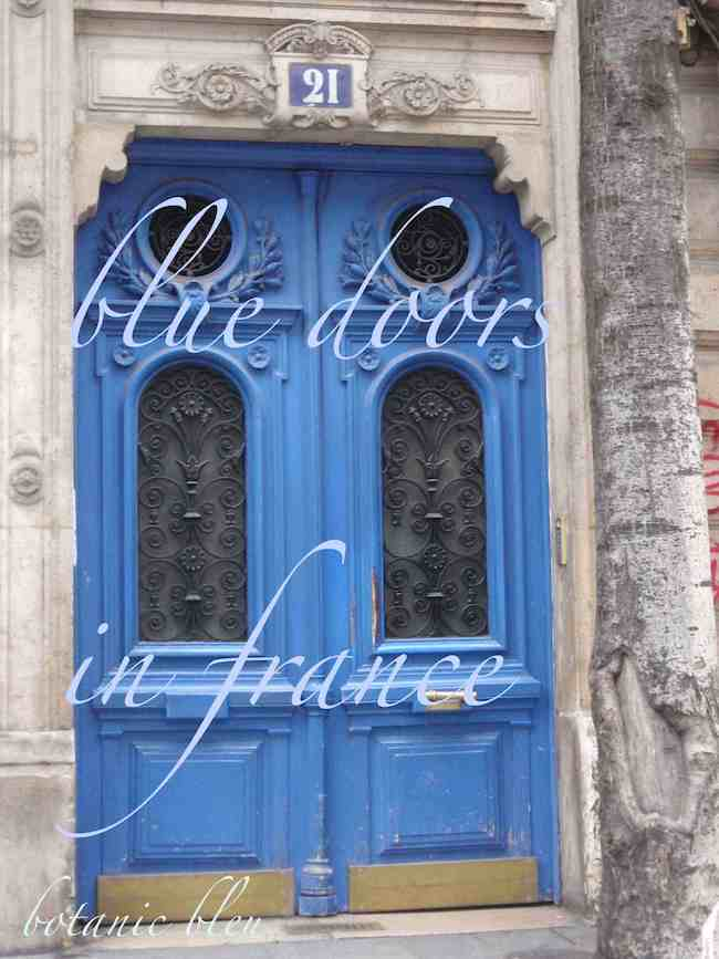 Blue doors in Paris inspire curb appeal for your door back home