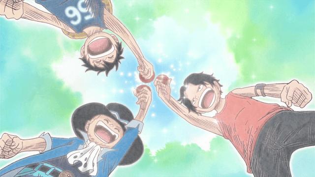 persahabatan 3 karakter utama di anime one piece