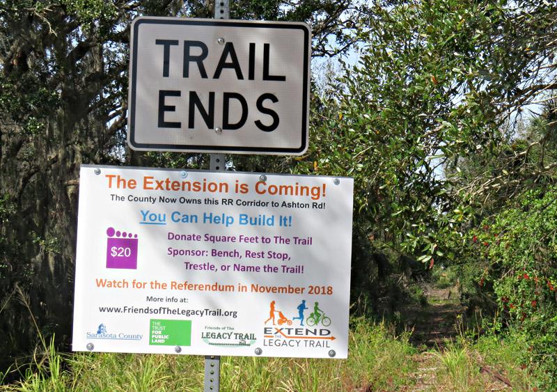 The Legacy Trail Extension in Sarasota, Florida Will Be Worth nearly on