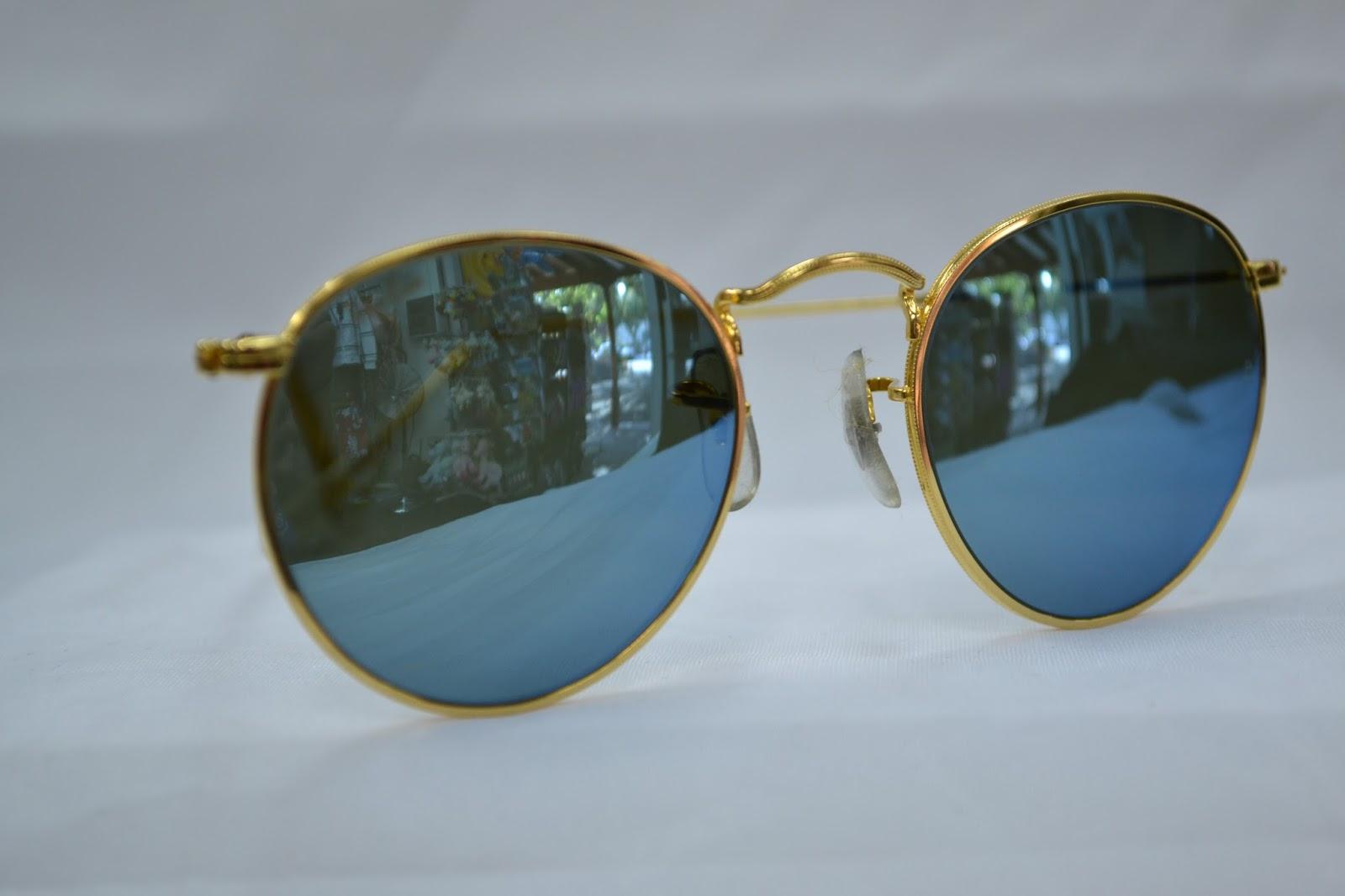 0fb8fda1600 Vintage Ray Ban Round metal Blue Mirror!! NOS! 90´S! LENNON STYLE! (SOLD)