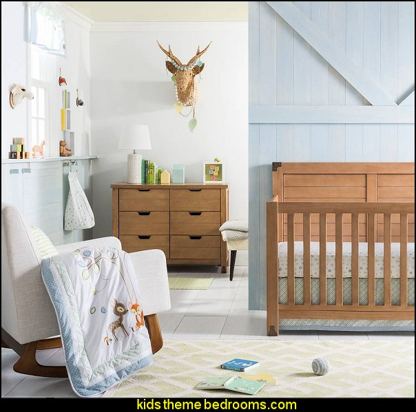 Forest Tales Nursery Room modern rustib baby bedrooms