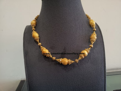 lightweight amber beads necklace