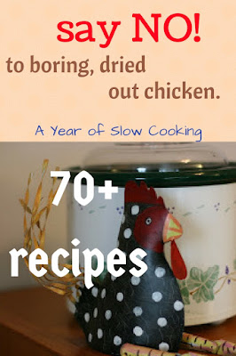 I hate dry chicken. I love these recipes from a year of slow cooking -- moist, juicy, crockpot chicken!
