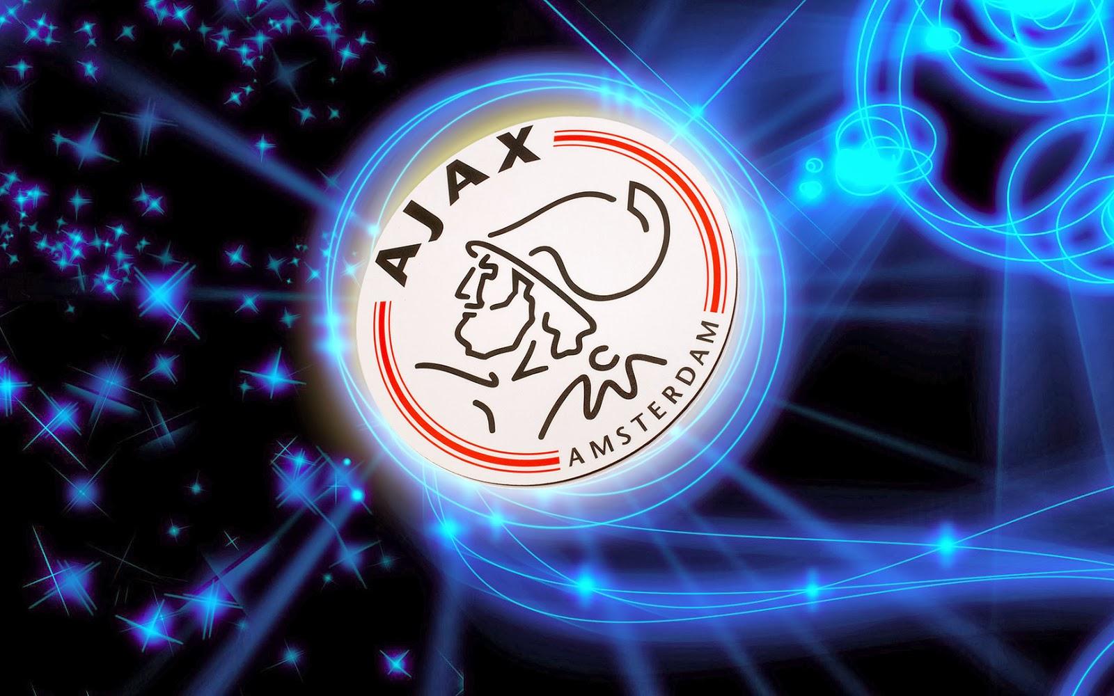 Zwart blauwe Ajax wallpaper