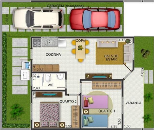 casas modernas de 95 m2