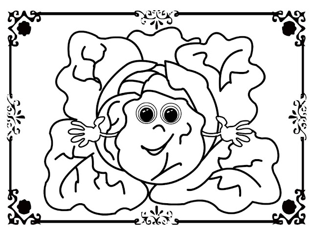 free coloring pages lettuce