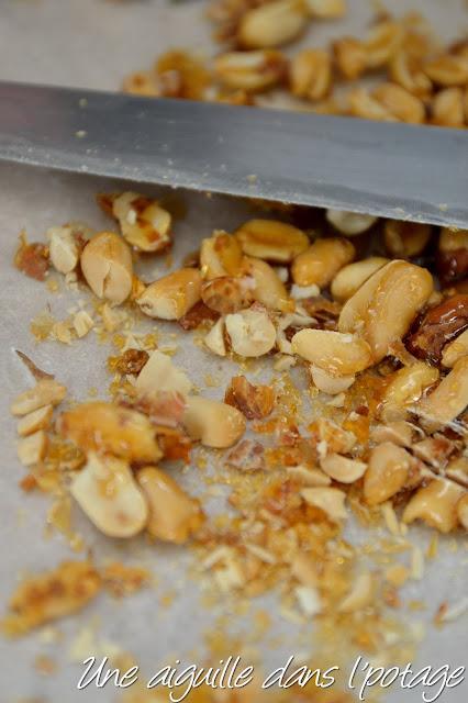 Cookies aux cacahuètes caramélisées (sans oeuf)